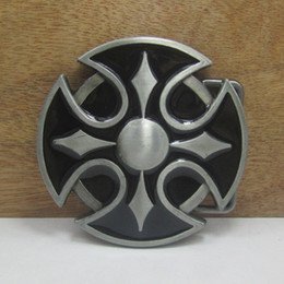 BuckleHome Cross belt buckle religious belt buckle FP-03263 with pewter finish with continous stock free shipping