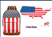 Wholesale 2013 new school season schoolbag shoulder bag rucksack retro flag British flag American flag design student backpack