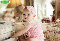 Wholesale TOP BABY Rompers Girls colorful Petti romper Toddler bodysuits Satin lace Ruffle One pieces
