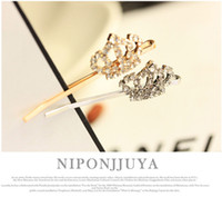 Wholesale Tiaras Crystal Hairpins Gold Silver Hairbands Accessories Fashion Hair Jewelry Fancy New Style Crowns Word Folder