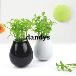 Wholesale Mung bean bud ceramic vase artificial flower set plants diaolan