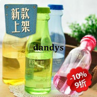 Wholesale 5184 derlook leak proof plastic portable soda bottle sealed glass beer bottle