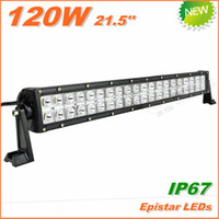 Wholesale 120W LED Work Light Bar V V IP67 Flood Spot beam For Dune buggy Light Bars TRUCK BOAT TRAIN BUS