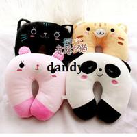 Teddy Bear White Stuffed & Plush Free Shipping, Animal onrabbit multifunctional cartoon u pillow plush neck small cushion