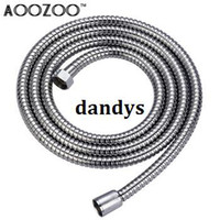 Wholesale Aoozoo double copper head fflooding stainless steel plumbing hose explosion proof double shower water pipe m