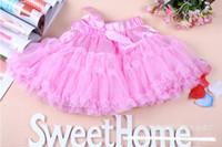 Wholesale Cheap Girls Lace Dress Baby Country style summer girls tutu skirts Veil Silk Bow Children Skirt Ribbon Wedding MZ15