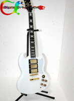 Solid Body 6 Strings Mahogany Best white SG Guitar Custom Shop sg400 Electric Guitar 3 pickup From China New Arrival HOT Guitars