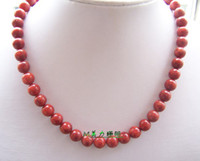Necklace red coral beads necklace - U S forces Taiwan pure coral red coral bead necklace MM genuine coral color