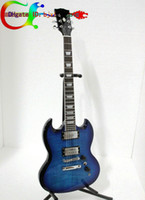 Solid Body 6 Strings Basswood Custom Shop sg 2 Pickups sg 400 electric guitar Blue burst High Quality Electric Guitar New Arrival Free Shipping