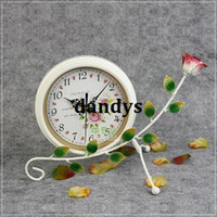 Mechanical Wall Clocks Metal Free Shipping, Beautiful rustic wall clock brief movement iron clock mute clock a547