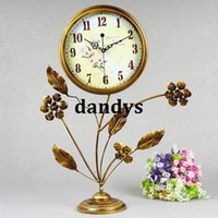 Mechanical Desk Clocks Metal Free Shipping, Fashion rustic iron clock silent movement iron pendulum clock a1425