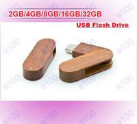 Wholesale 2GB GB GB GB GB Wooden Swivel USB Flash Memory Pen Drive Sticks Thumb Drives Disks Discs Pendrives Thumbdrives G004P