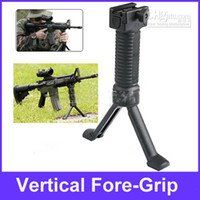 Wholesale mm Rifle Tactical Vertical Front Grip Fore Grip with Retractable Spring Loaded Bipod Stand YC0001