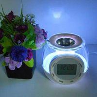 Wholesale b radio alarm clock zone heated device colorful led lighting romantic birthday gift female