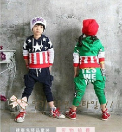 Wholesale Boys Flag Suits boys hoodies Boys pants Children Tracksuits Boys Tops Children Kids Tracksuit