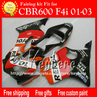 Free 7 gifts Custom ABS fairing kit for Honda CBR600F4I 2001...
