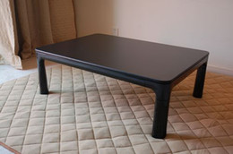 Wholesale Freeshipping K105 modern Japanese furniture kotatsu warmer table rectangle cm black color folding warmer table