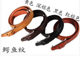 Wholesale New arrival fashion genuine Leather Belts retail antique crocodile buckle top alligator design for men