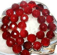 Wholesale AAA mm Faceted Natural Red Huge Ruby Round Gemstone Loose Beads quot Y15