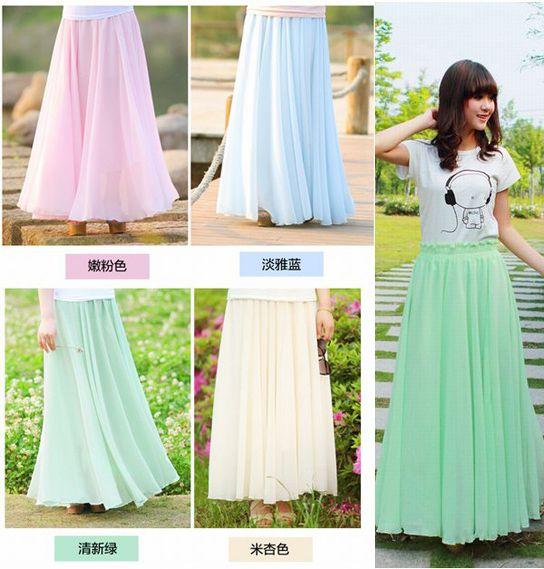 2015 Summer Fashion Long Maxi Skirts For Women Bohemia Summer ...