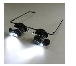 Wholesale New Arrival Watch Repair Glasses Style Magnifier Loupe X With LED Light