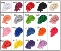 Wholesale 5pcs Ladies Shawls Scarf Can Be MUSLIM HIJAB Cotton Drape Fashion Patchwork Long Soft Comfortable Colorful Candy Color Women Scarf C0841