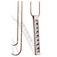 Celtic Women's Gift High Quality Strip Long Necklace Zircon Necklace Fashion Costume Jewelry Free Shipping