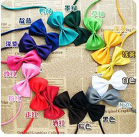 Wholesale dog clothes pet clothes apparel The tie bowknot polyester colors best price to dogs cats C0013