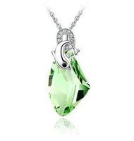 Wholesale Romantic Austria Crystal Drop Necklace Dolphin Necklace