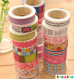 Wholesale New vintage tower amp lace series washi masking Tape Decoration stationery Tape Sticker label
