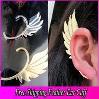 Wholesale Metal Wing Ear Cuff Earring New Gothic Punk Rock Women Jewelry Gold Bronze Silver Colors Cartilage Ear Cuff Jewelry