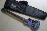 6 Strings blue guitar - New Chinese travel Electric Guitar BLUE purple free bag customize available in stock