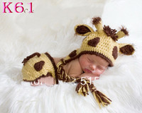 baby does - 2013 Hot SALE Crochet Baby Giraffe Hat Earflap hat Baby Newborn Crochet Hat Does not include diaper cover