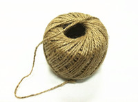 Wholesale 230FT Ply Natural Jute Twine Cord Hemp Rope DIY Decorative Handmade Accessory for craft
