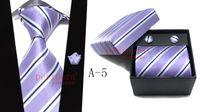 mens tie handkerchief - 2013 Mens Tie Handkerchief amp Cufflink Set Matching Gift Box Set