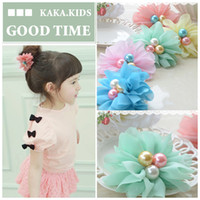 Wholesale Cute Big Flower Hairband Hair ties Hair Accessories for Girls Kids Chirldren Colors