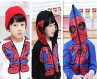 Boy Spring / Autumn With Hood 2013 Autumn Children's jacket kids Spiderman coat Boys Looped fabric Sweaters 3colors