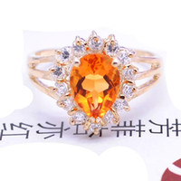 Natural crystal / semi-precious stones Citrine other / other Counters authentic 925 sterling silver natural citrine Ring Ring Valentine's Day gift girlfriend
