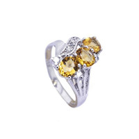 Natural crystal / semi-precious stones Citrine other / other Counters authentic 925 sterling silver & natural Citrine Ring (finger ring size can be customized)