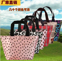 Wholesale Medium Waterproof Lunch Bag Printing Shopping Bags Fashion Lunch Bags Casual Handbags Small Bag Hand Bag Handbag Bag