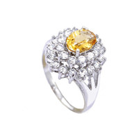 Natural crystal / semi-precious stones Citrine other / other Free shipping 925 sterling silver natural citrine ring 2013 special promotional gifts luxury models