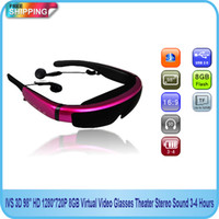 Wholesale IVS D quot HD P GB Virtual Video Glasses Theater Stereo Sound Hours