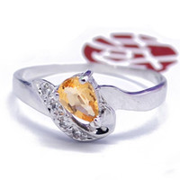 Natural crystal / semi-precious stones Citrine other / other Genuine 925 sterling silver; Natural Citrine Ring (finger ring size can be customized)