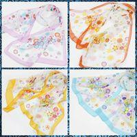 Wholesale Fashion Forward Pastoral style flower sunscreen Chiffon Printed Scarfs Colors CM