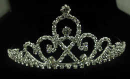 Wedding tiara crown bridal hair accessories high quality synthetic diamond crown fork comb Lightning delivery
