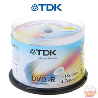 Wholesale HOT NEW arrive TDK blank DVD R White inkjet printable series G min DVD X Discs TD006