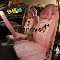 pink car seat covers - You laugh monkey summer viscose seat cover car general seat cover piece set cartoon pink