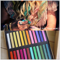 Wholesale Hot Selling New Adds Colors set Chalk Hair Temporary Chalk Hair Color Dye Pastel Chalk Bug Rub by FED DHL