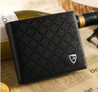 Wholesale Fashion mens genuine leather wallet short design casual cowhide wallet purse card holder