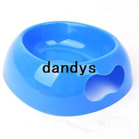 Wholesale Dog bowl pet bowl plastic bone hand clasping Large heart oval cm utensils